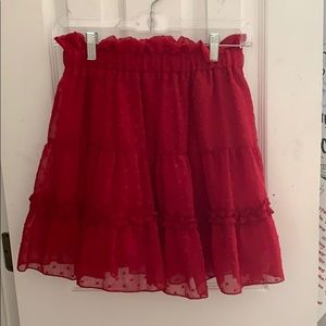 red shein skirt